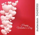 realistic white romantic... | Shutterstock .eps vector #542405503
