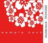 flower decoration on red | Shutterstock . vector #54241060