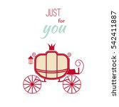 carriage design vintage... | Shutterstock .eps vector #542411887