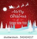 vector illustration of santa...   Shutterstock .eps vector #542424217