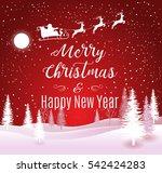 vector illustration of santa...   Shutterstock .eps vector #542424283