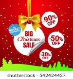 big christmas sale. white... | Shutterstock .eps vector #542424427