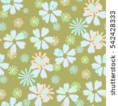 floral simple seamless pattern...   Shutterstock .eps vector #542428333