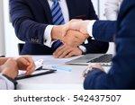business handshake at meeting... | Shutterstock . vector #542437507