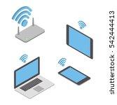 wireless technologies. the... | Shutterstock .eps vector #542444413