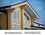 the facade of the wooden house... | Shutterstock . vector #542456323