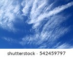 Blue Sky With Feather Like...