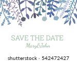 vintage elegant invitation save ... | Shutterstock .eps vector #542472427