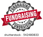 fundraising. stamp. sticker.... | Shutterstock .eps vector #542480833