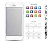 elegant white smartphone with...   Shutterstock .eps vector #542484847