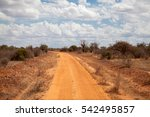red soil way through the... | Shutterstock . vector #542495857