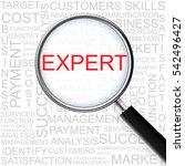 expert. magnifying glass over... | Shutterstock .eps vector #542496427