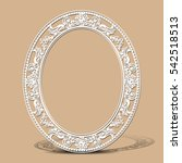 carved vintage frame made of... | Shutterstock .eps vector #542518513