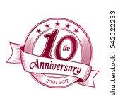 10th anniversary design... | Shutterstock .eps vector #542522233