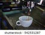 coffee latte art in coffee shop ... | Shutterstock . vector #542531287