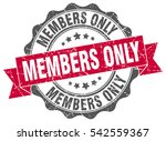 members only. stamp. sticker.... | Shutterstock .eps vector #542559367