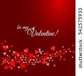 be my valentine greeting card.... | Shutterstock .eps vector #542575933