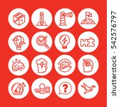 red color set of vector icon...   Shutterstock .eps vector #542576797