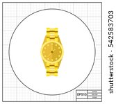 gold watch icon   Shutterstock .eps vector #542583703