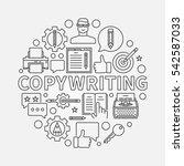 copywriting round line... | Shutterstock .eps vector #542587033