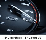 2017 year car speedometer... | Shutterstock . vector #542588593