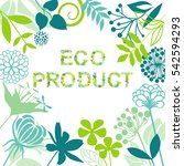 eco product background | Shutterstock .eps vector #542594293