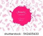 beauty sketch background. hand... | Shutterstock .eps vector #542605633