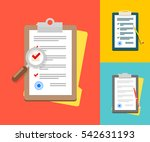application forms. documents... | Shutterstock . vector #542631193