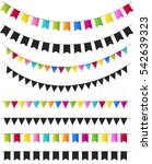 party flags collection. vector... | Shutterstock .eps vector #542639323