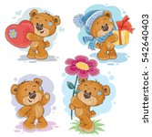 set vector clip art... | Shutterstock .eps vector #542640403