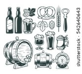 collection retro icons of beer... | Shutterstock .eps vector #542640643