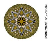 mandala. vintage decorative... | Shutterstock .eps vector #542641003