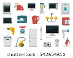 colored icons of home... | Shutterstock .eps vector #542654653