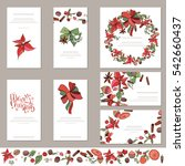 collection of christmas  visit... | Shutterstock .eps vector #542660437