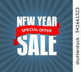 new year sale badge  label ... | Shutterstock .eps vector #542661523