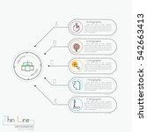 modern infographic design... | Shutterstock .eps vector #542663413