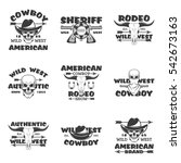 wild west  rodeo show  sheriff  ... | Shutterstock .eps vector #542673163