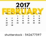 vector calendar for 2017 year.... | Shutterstock .eps vector #542677597