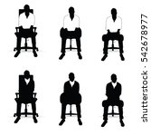 man silhouette siting on chair... | Shutterstock .eps vector #542678977