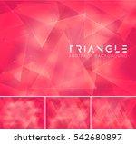 triangular abstract background. ... | Shutterstock .eps vector #542680897