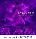 triangular abstract background. ... | Shutterstock .eps vector #542682517