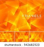 triangular abstract background. ... | Shutterstock .eps vector #542682523