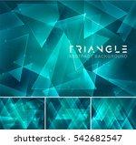 triangular abstract background. ... | Shutterstock .eps vector #542682547