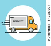 delivery truck icon. flat... | Shutterstock .eps vector #542687077