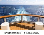 deck of cruise ship with wake... | Shutterstock . vector #542688007