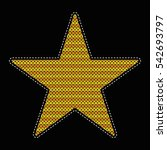 patch of a knitted star. wicker ... | Shutterstock .eps vector #542693797
