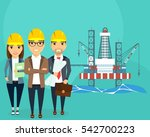 extraction of energy resources. ... | Shutterstock .eps vector #542700223