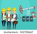 the development of oil fields.... | Shutterstock .eps vector #542700667