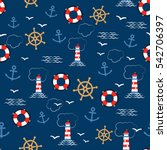 seamless vector pattern with... | Shutterstock .eps vector #542706397