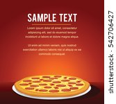 pepperoni pizza background.... | Shutterstock .eps vector #542706427